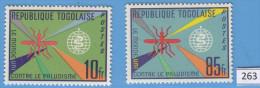 TOGO 1962; Mi: 346, 349; MNH; World Health Organization WHO, Campaign Against Malaria, Contre Le Palaudisme - Malattie