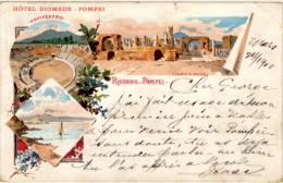 Ricordo Di Pompei - Hotel Diomede - Cachet De Pompei à Dieuze (Lorraine Occupée) - Pompei