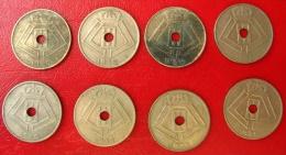 Belgique - Lot De 8 Monnaies De 10 Centimes: 1938 X4, 1939 X4 - 02. 10 Centimes