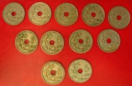 Belgique - Lot De 9 Monnaies De 5 Centimes: 1904, 13, 14, 22, 25, 26x2, 27, 28 - 03. 5 Centimes