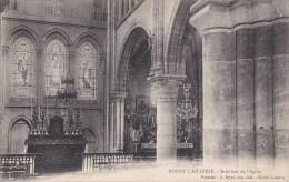 95 BOISSY L´ AILLERY  Intèrieur De L' EGLISE  L' AUTEL Les VITRAUX - Boissy-l'Aillerie