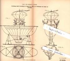 Original Patent - Ch. Wulff In Paris , 1886 , Verwendung Von Vögeln Für Luftschiff , Geier , Condor , Adler , Vögel !!! - Fliegerei