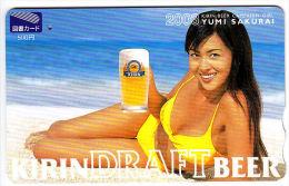 9004j - Japan - Japanese Card - Sexy - Kirin Draft Beer - Yumi Sakurai - Japan