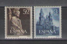 1954 Edifil 1130/1 Santo Compostelano,completa,nuevo,cat 47€,,             #61 - 1951-60 Nuovi