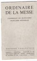 Ordinaire De La Messe Rite Romain Textes Français Opuscule 16 Pages - Imágenes Religiosas