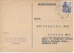 Germany (DDR) 1957-59  Mi.579  Greifswald - London, England  9.1.62 - [6] Democratic Republic