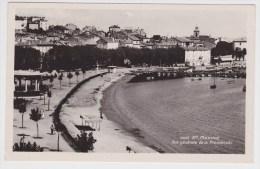 (RECTO / VERSO) SAINTE MAXIME EN 1945 - VUE GENERALE DE LA PROMENADE - FORMAT CPA - Sainte-Maxime