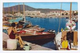 (RECTO / VERSO) SAINTE MAXIME EN 1963 - LES YACHTS A QUAIS - FORMAT CPA - Sainte-Maxime
