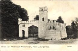 Cp Wendisch Wilmersdorf Trebbin Im Kreis Teltow Fläming, Partie Am Parktor - Deutschland