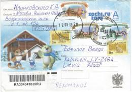 RUSSIA - RUSSIE - RUSSLAND - 2013 - Special Cover For Sochi.ru 2014 - Viaggiata Da Mockba Per Adazi, Latvia - 1992-.... Federazione