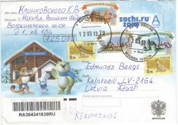 RUSSIA - RUSSIE - RUSSLAND - 2013 - Special Cover For Sochi.ru 2014 - Viaggiata Da Mockba Per Adazi, Latvia - Cartas
