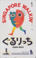 Télécarte Japon - AVIATION - SINGAPORE AIRLINES - JAPAN Phonecard Telefonkarte - Avion 700 - Avions
