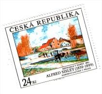 Czech Republic - Painting By Sisley, 1 Stamp, MNH - Arte