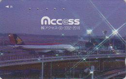 Télécarte Japon - AVION - SINGAPORE AIRLINES - JAPAN Phonecard Telefonkarte - Aviation 702 - Avions