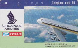 Télécarte Japon / 330-13377 - AVION - SINGAPORE AIRLINES - Plane JAPAN Phonecard - FLUGZEUG Telefonkarte - Aviation 709 - Avions