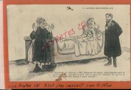 CPA FANTAISIES  HUMOUR  ,  SCENES MORVANDELLES  C. BERTY  Le Diangostic  Du  Médecin  NOV  2014 DIV 081 - Illustrateurs & Photographes