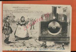 CPA NIEVRE  FANTAISIES  HUMOUR  ,  Légendes De Saint Saulge   Le Cochon écrasé    NOV  2014 DIV 093 - Künstlerkarten