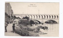 CPA 75 - PARIS - Viaduc D'Auteuil - TB PLAN De L'Edifice Avec ANIMATION Sur Les Berges - Non Classés