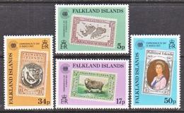 FALKLAND  ISLANDS  371-4   **   STAMPS  ON  STAMPS - Falkland Islands
