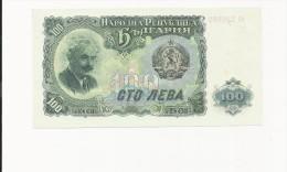 Billet , BULGARIE , 100 Leva , 1951 , 2 Scans - Bulgarie