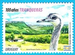 """Uruguay 2014 ** Centenario Tranqueras. Centenary Tranqueras (""""Gates"""") See Desc. - Avestruces"""