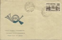 ITALIA REPUBBLICA ITALY REPUBLIC 1950 FIERA DI MILANO FAIR FDC - 6. 1946-.. Repubblica