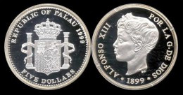 PALAU 5 DOLARES 1999 ALFONSO XIII - Palau