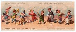 RARE  Chromo Testu & Massin syst�me Au Printemps Les Petits Prodiges clown cirque magicien magie chien jongleur carte