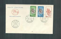 ITALIE FDC 15/10/1964 ETATS GENERAUX DES COMMUNES EUROPEENNES Y.T. 909-911 - F.D.C.