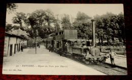 BAYONNE - DEPART DU TRAIN POUR BIARRITZ - N. 39 - GORGE PHOT. NO CIRCULEE. - Bayonne
