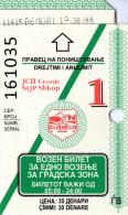 Macedonia,one way ticket in Skopje bus transport sistem,see scan