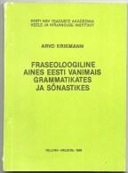 ESTLAND Estonia A. Krikmann Fraseologie In Estnische Sprache Sprachwissenschaft. 1986 - Books, Magazines, Comics