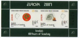 Montenegro 2007 Europa CEPT, Scouts, Block, Souvenir Sheet From Booklet MNH - 2007