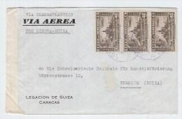 Venezuela/Switzerland CENSORED AIRMAIL COVER - Venezuela