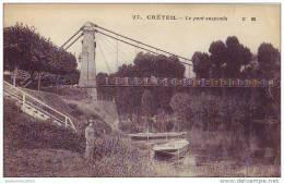 CRETEIL - 94 - Le Pont Suspendu - Creteil