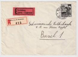 Schweiz, 1946, Reco-Eilboten-Brief! ,  S426 - Switzerland