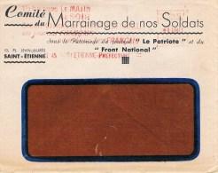 ENVELOPPE AVEC PUB - VOIR LES 2 SCANS- - Vieux Papiers