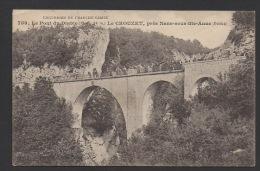 DF / 25 DOUBS / LE CROUZET / LE PONT DU DIABLE / ANIMÉE / CIRCULÉE EN 1915 - France