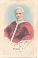 POSTAL DE PIUS X PONT. MAX. CON AUTOGRAFO DE JUAN NEPOMUCENO TERRERO OBISPO DE LA PLATA CIRCA 1904 ORIGINAL - Autogramme & Autographen