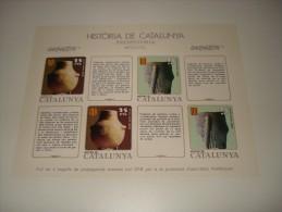 ESPAÑA - HISTORIA DE CATALUNYA - HOJA Nº 2 - PREHISTORIA (NEOLITICO) ** MNH - Hojas Conmemorativas