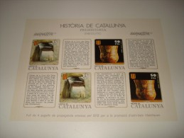 ESPAÑA - HISTORIA DE CATALUNYA - HOJA Nº 3 - PREHISTORIA (ENEOLITICO) ** MNH - Hojas Conmemorativas
