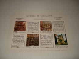 ESPAÑA - HISTORIA DE CATALUNYA - HOJA Nº 8 - ANTIGUITAT (LA ROMANITZACIO) ** MNH - Hojas Conmemorativas