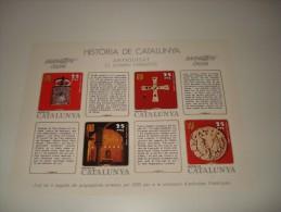 ESPAÑA - HISTORIA DE CATALUNYA - HOJA Nº 9 - ANTIGUITAT (EL DOMINI VISIGOTIC) ** MNH - Hojas Conmemorativas