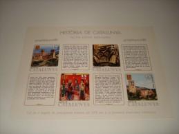 ESPAÑA - HISTORIA DE CATALUNYA - HOJA Nº 10 - ALTA EDAT MITJANA ** MNH - Hojas Conmemorativas