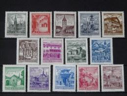 AUTRICHE -  1962 Série N° 950A/959 * - 1945-.... 2. Republik