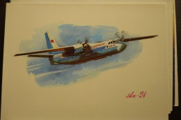 AIRLINES ISSUE / CARTE COMPAGNIE       AEROFLOT     ANT 24 - 1946-....: Moderne
