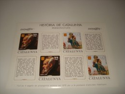 ESPAÑA - HISTORIA DE CATALUNYA - HOJA Nº 15 - PERSONATGES ** MNH - Hojas Conmemorativas