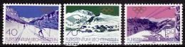 LIECHTENSTEIN  N° 679/81  * *  ( Cote 4.25e )  JO 1980  Ski    Telepherique Montagne - Hiver 1980: Lake Placid