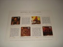 ESPAÑA - HISTORIA DE CATALUNYA - HOJA Nº 29 - EDAT MODERNA (LA VIDA POLITICA I ELS SEUS DIRIGENTS) ** MNH - Fogli Ricordo