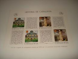ESPAÑA - HISTORIA DE CATALUNYA - HOJA Nº 31 - EDAT MODERNA (LA VIDA POLITICA I ELS SEUS DIRIGENTS) ** MNH - Fogli Ricordo